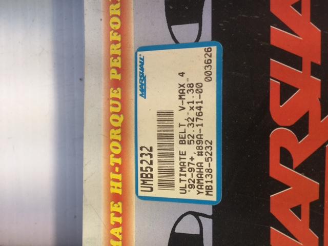 Dayco Snowmobile HPX Drive Belt Yamaha VMAX 85-86